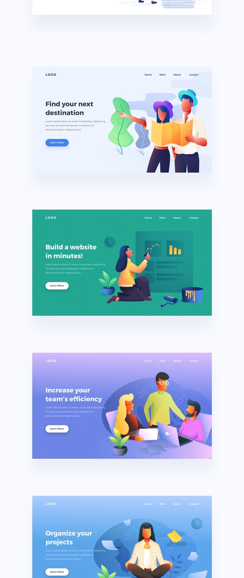 UI8·手机App和Web插画包-Mobile and Web Illustration Pack volume 03